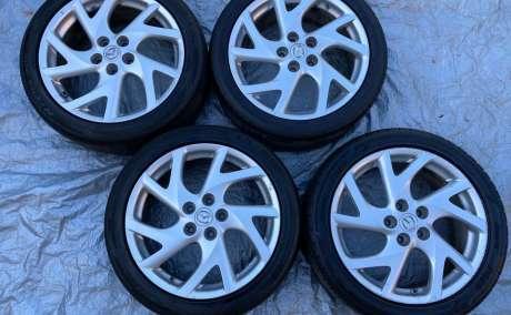 5 x 114.3 18 mazda 6 wheels + 225 45 18 tyres